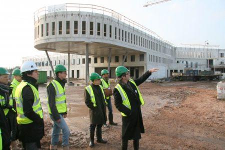 BVA bezoekt werf van nieuw forensisch centrum Gent