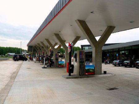 Texaco-servicestations in Drongen: duurzaam en modern