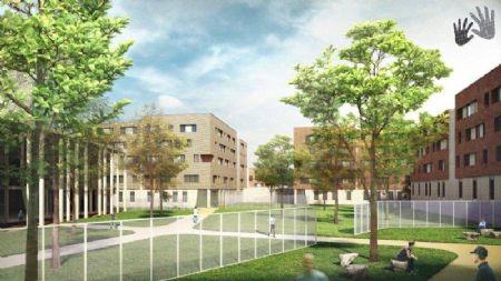 Eerste beelden beschikbaar van het ontwerp voor het gevangenisdorp in Haren