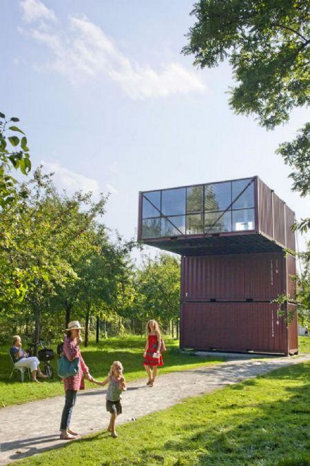 Containerproject Orbino van Luc Deleu in Middelheimmuseum