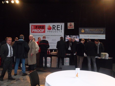 Veel belangstelling voor Rockboard paneel op Fire Safety Innovation Days
