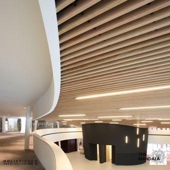 Houten plafonds van Hunter Douglas in NAC Houthalen