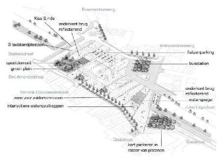 Bas Smets ontwerpt stationsplein Roeselare