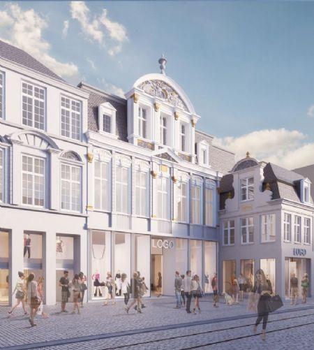 Verbouwing winkelcomplex en nieuw hotel in historisch pand Veldstraat _1