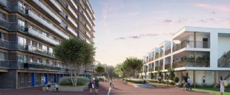 Sociale woningen en kantoorgebouw Rauterpark_4