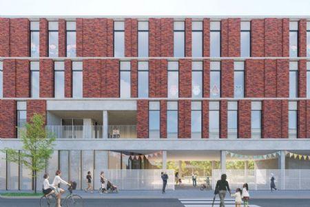 Nieuwe GO!-basisschool annex -kinderdagverblijf in Sint-Jans-Molenbeek_1