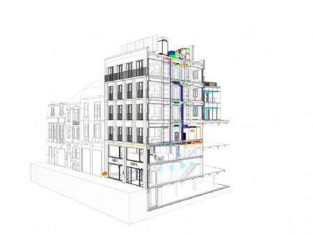 Verbouwing winkelcomplex en nieuw hotel in historisch pand Veldstraat _7