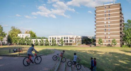 Sociale woningen en kantoorgebouw Rauterpark_1