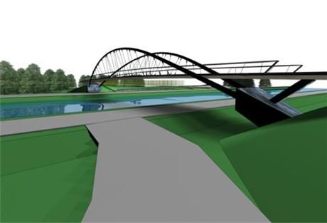 Fietsbrug over kanaal Turnhout-Schoten_2