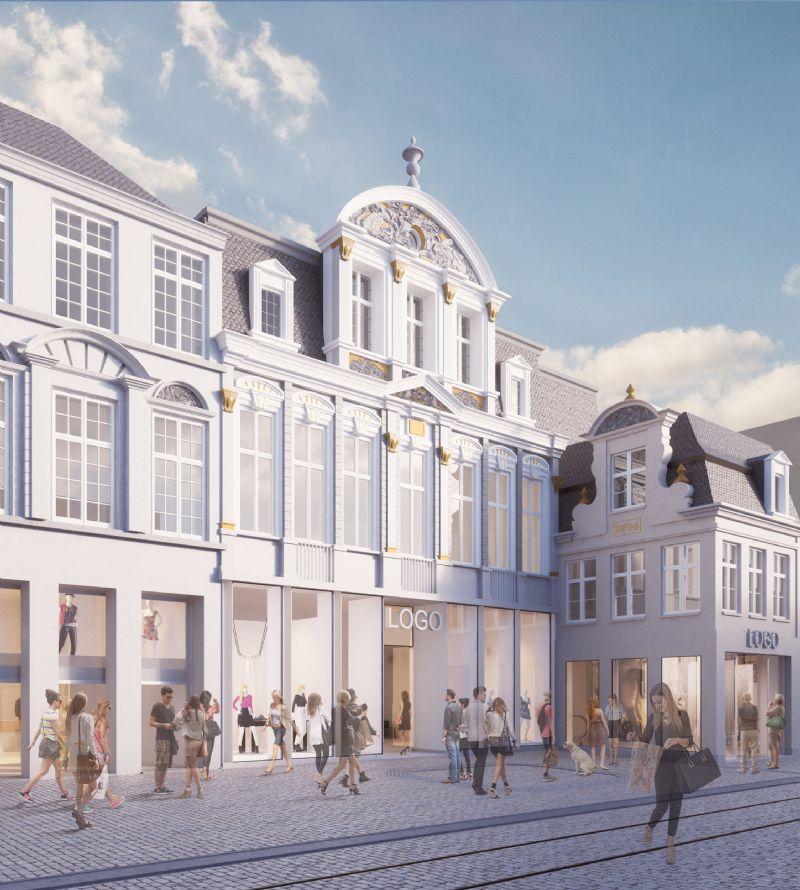 Verbouwing winkelcomplex en nieuw hotel in historisch pand Veldstraat