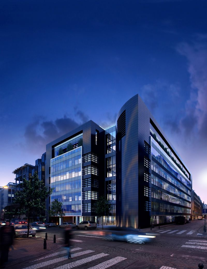 """""""Black Pearl"""", bureaux passifs à Bruxelles"""