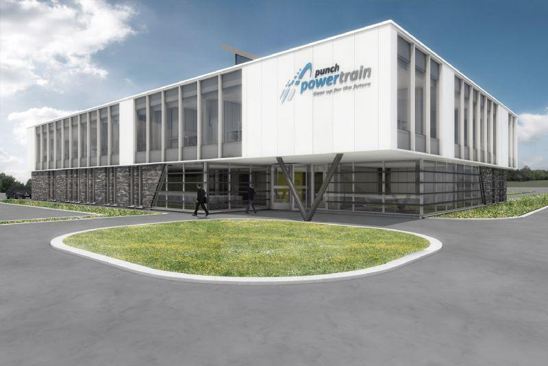Nieuw hoofdkantoor en bijkomende werkplaats Punch Powertrain