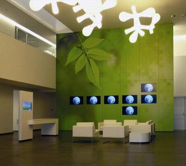 Sorteercentrum voor batterijen met kantoor en educatief centrum
