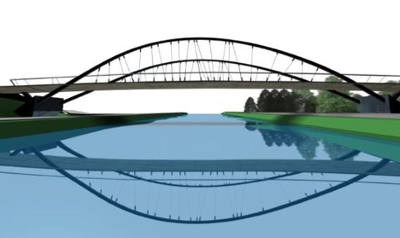 Fietsbrug over kanaal Turnhout-Schoten